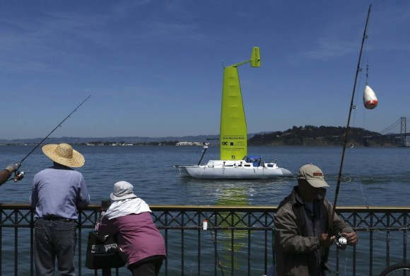 WIND-POWERED S.F. BAY FERRY COMMUTE TESTS PROMISING