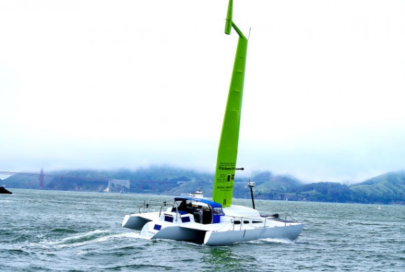 NAPANS DONATE TRIMARAN FOR WIND POWER EXPERIMENT